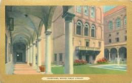 BOSTON - COURTYARD - Boston Public Library - Boston