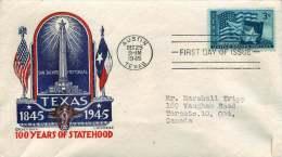1945  Texas Centenary  Sc 938  Staehle Cachetcraft - 1941-1950