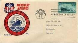 1946  -Merchant Marine   Sc 939  Cachetcraft - Ken Boll - 1941-1950