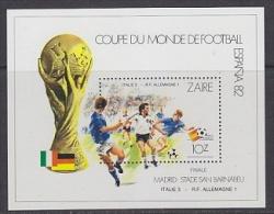 Zaire 1982 World Cup Football Espana '82 Final Italy - Germany M/s ** Mnh (21618) - Zaïre