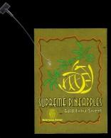 # PINEAPPLE SUPREME GOLD EXTRA SWEET Fruit Tag Balise Etiqueta Anhanger Ananas Pina Costa Rica - Fruits & Vegetables
