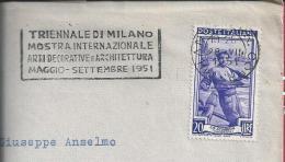 Triennial Decorative Art And Architecture In Milan 1951.Triennale Der Kunst Und Architektur In Mailand.Streamer.3scans. - Architettura