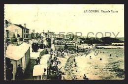 SPAIN POSTCARD GALICIA TARJETA POSTAL LA CORUÑA Ca1900 PLAYA DEL RIAZOR W42108 - La Coruña