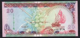 MALDIVE : Banconota 20 Rufiaa - 2000 - P19 - FDS - Maldive