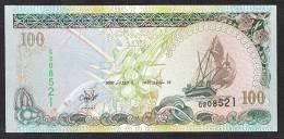 MALDIVE : Banconota 100  Rufiaa - 2000 - FDS - Maldive