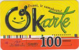 LATVIA - LMT Prepaid Card 100 Dienas, Exp.date 01/03/04, Used - Latvia
