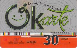 LATVIA - LMT Prepaid Card 30 Dienas, Exp.date 01/10/04, Used - Latvia