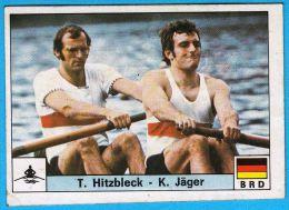PANINI OLYMPIC GAMES MONTREAL 76 - 158 T. HITZBLECK & K. JAGER Germany Rowing Aviron Ruder Rudersport * Yugoslav Edition - Aviron
