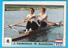 PANINI OLYMPIC GAMES MONTREAL 76 - 159 J. VANDERHORST W. BOESCHOTEN Holland Rowing Aviron Rudersport * Yugoslav Edition - Rowing