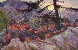 Cartolina Postale Commemorativa  IV° Guerra Indipendenza Italiana - Alpini In Trincea ( Valle Giudicaria ) - Croce Rossa