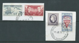 Ross Dependency 1957 Pre Decimal Definitives Set 4 FU Scott Base Cancels - Ross Dependency (New Zealand)