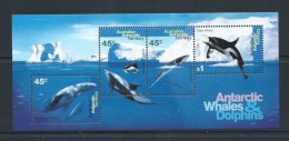 Australian Antarctic Territory 1995 Whale & Dolphin Miniature Sheet MNH - Unused Stamps