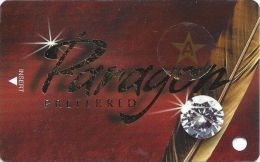 Paragon Casino Marksville LA - BLANK Diamond Slot Card With Star-A Sticker - Casino Cards