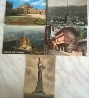5 CART.  TORINO (9) - Cartoline