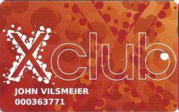 Parx Casino Philadelphia PA - Xclub Slot Card With Large CASINO In Reverse Logo - Casino Cards