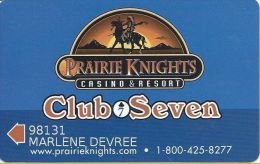 Prairie Knights Casino - Fort Yates, ND - Club Seven Slot Card - Casino Cards