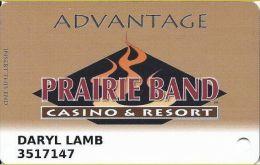 Prairie Band Casino - Mayetta KS - Advantage Slot Card - Casino Cards