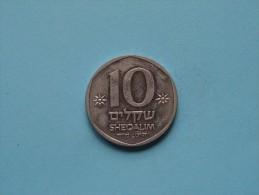 1984 - 10 Sheqalim ( For Grade, Please See Photo ) ! - Israele