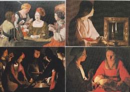 16 / 3  / 151  -LOT  7  CPM( GRD  MOD. )  EXPOSITION  GEORGES  DE  LA  TOUR  À  PARIS- Toutes Scanées - Postcards