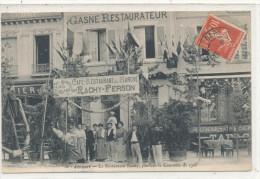 JOIGNY  Le Restaurant Rachy Pendant Le Concours De 1906  Animée - Joigny