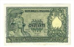 50 LIRE 1951 Di Cristina Bb/spl LOTTO 1310 - [ 2] 1946-… : Républic