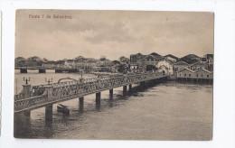CPA BRESIL - RECIFE - Ponte 7 De Setembro - TB PLAN PONT Avec Jolie Vue D'une Partie De La Ville Derrière - Recife