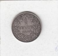 GERMANY GERMAN STATES BAVARIA  1/2 GULDEN  1852 MAXIMILIAN II. SILVER COIN - [ 1] …-1871 : Etats Allemands