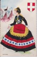16 / 3  / 153  -  CARTE COSTUME  DE  SAVOIE  En Tissu - France