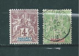 Colonies Francaise  Timbre Du Dahomey De 1901/05  N° 8 Et 9  Neuf Et Oblitéré - Neufs