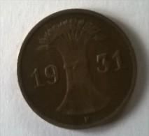 1 Pfennig 1931 F - TTB - - [ 3] 1918-1933 : República De Weimar
