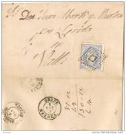 17046. Envuelta GRAUS (Huesca) 1871 A Valls, Fechador Tipo II Alegoria - 1870-72 Regentschaft