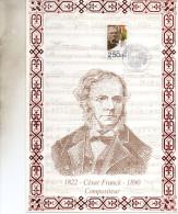 ENCART  MUSIQUE COMPOSITEUR CESAR FRANCK 1992 - Music