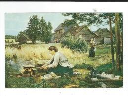 Peintre Russe  Morozov 1835 1904 Cuisson En Plein Air Neuve TBE 2 Scan - Paintings