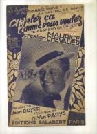 - APPELEZ CA COMME VOUS VOULEZ . CHANSON DE MAURICE CHEVALIER  . - Partitions Musicales Anciennes