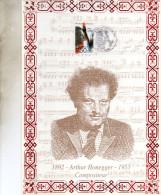 ENCART  MUSIQUE COMPOSITEUR   ARTHUR  HONEGGER   1992 - Music