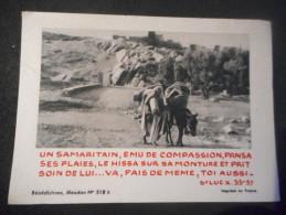 """IMAGE Pieuse """"Un Samaritain, ému De Compassion ... St Luc 33-37"""" (BENEDICTINES DE MEUDON N° 518) - Religion & Esotericism"""