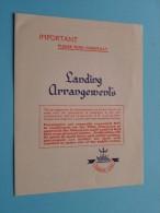 "RMS "" QUEEN MARY "" CUNARD Line - LANDING Arrangements - Anno 1955 ( 8/55. L.P. 33/111. ) ! - Boten"