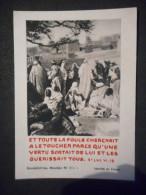 """IMAGE Pieuse Et Toute La Foule Cherchait à Le Toucher ... St Luc VI 19"""" (BENEDICTINES DE MEUDON N° 504 K) - Religion & Esotérisme"""