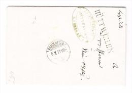 Heimat TG HÜTTWEILEN Langstempel 9.10.1871 Frauenfeld Verhelichungsschein Brief - 1843-1852 Timbres Cantonaux Et  Fédéraux