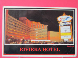 Carte Pas Très Courante - Etats Unis - Nevada - Las Vegas - Riviera Hotel - Jolis Timbres - Scans Recto-verso - Las Vegas