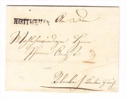 Heimat TG HÜTTWEILEN Langstempel Auf 1849 Brief Rücks. 2 -KreisStempel Frauenfeld Und Winterthur - 1843-1852 Timbres Cantonaux Et  Fédéraux