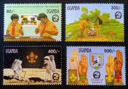 BADEN-POWELL 1991 - NEUFS ** - YT 794/97 - MI 906/09 - Uganda (1962-...)