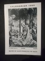 "IMAGE Pieuse ""CALENDRIER 1965 - OEUVRE DE SAINT FRANCOIS DE SALES"" (Hélio Lorrane Nancy) - Religión & Esoterismo"