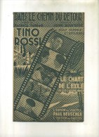 -  DANS LE CHEMIN DU RETOUR . PARTITION DE CHANSON DE TINO ROSSI . - Partitions Musicales Anciennes