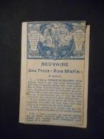 """IMAGE Pieuse Ancienne DOUBLE """"NEUVAINE DES TROIS AVE MARIA"""" - Religion & Esotericism"""