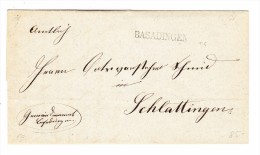 Heimat TG BASADINGEN Langstempel Auf Amtlicher Brief 1872 Nach Schlattingen - 1862-1881 Helvetia Assise (dentelés)