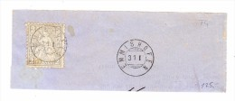 Heimat TG EMMISHOFEN 31.1. Zwergstempel Auf Briefstück Mit 2Rp. Sitzende Helvetia - 1862-1881 Helvetia Assise (dentelés)