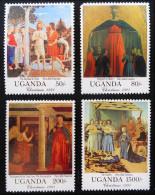 NOËL 1991 - NEUFS ** - YT 818/21 - Uganda (1962-...)