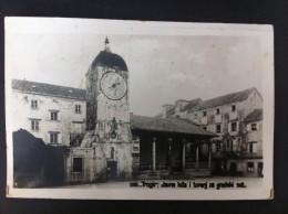TROGIRJAVNA LOZA I TORANJ ZA GRADSKI SAT POSTAL CIRCULADA A BELGICA 1937 - Eslovaquia