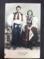 LIDOVY KROJ ZE SLOVACKA OKRES UH HRADISTSKY STARE MESTO POSTAL CIRCULADA 1907 - Eslovaquia